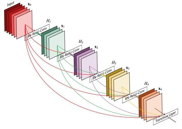 Diagrama de arquitectura DenseNet